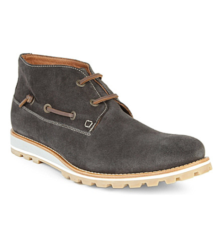 KURT GEIGER LONDON Paul suede boots (Grey