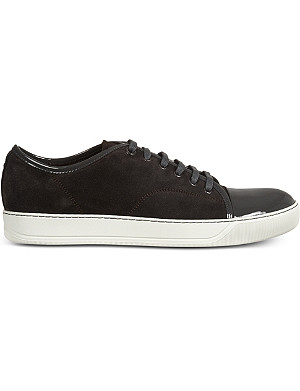 LANVIN Low top suede basket trainers