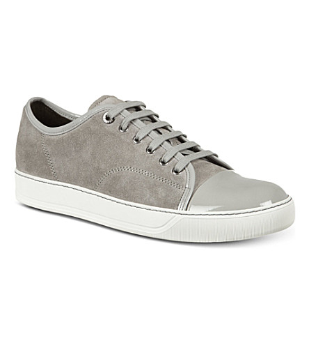 LANVIN Low-top basket sneaker (Grey/light