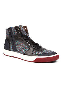 LANVIN Ethnic print high-top trainers