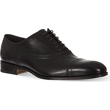 FERRAGAMO Casey toecap Oxford shoes (Black