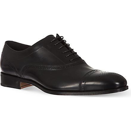 FERRAGAMO Casey toecap Oxford shoes (Black