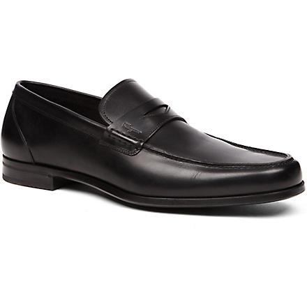 FERRAGAMO Triumph Penny loafers (Black