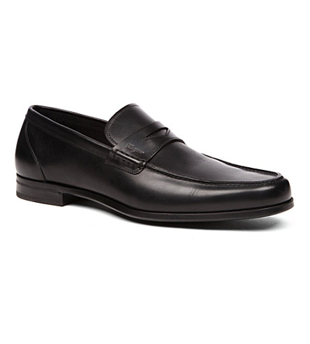 SALVATORE FERRAGAMO Triumph Penny loafers (Black