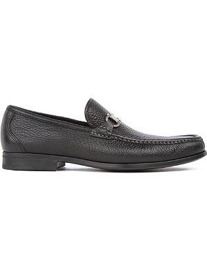 FERRAGAMO Magnifico grained-leather loafers