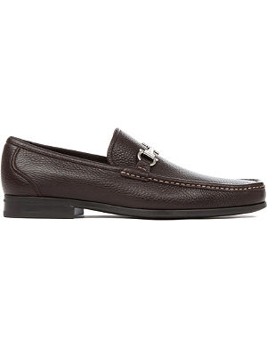 FERRAGAMO Magnifico grained-leather loafers