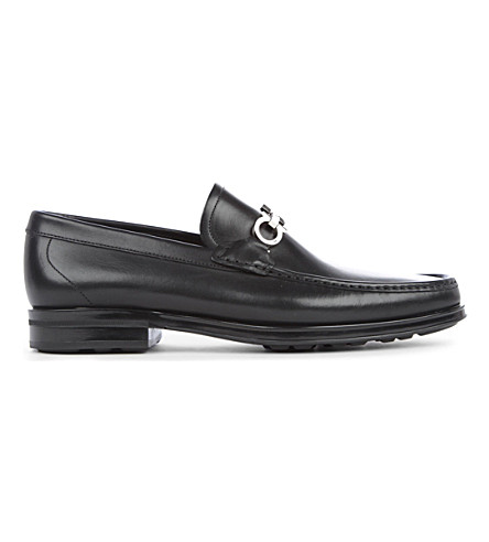 FERRAGAMO Horse bit loafers (Black