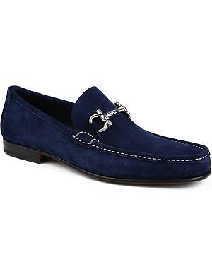 FERRAGAMO Girodano horsebit suede loafers