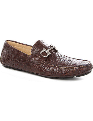 FERRAGAMO Parigi crocodile driving shoes