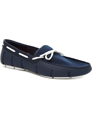 SWIMS Lace-front rubber loafers