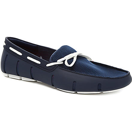SWIMS Lace-front rubber loafers (Blue/pal.c