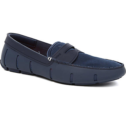 SWIMS Penny rubber loafers (Navy