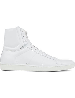 SAINT LAURENT Leather high-top trainers