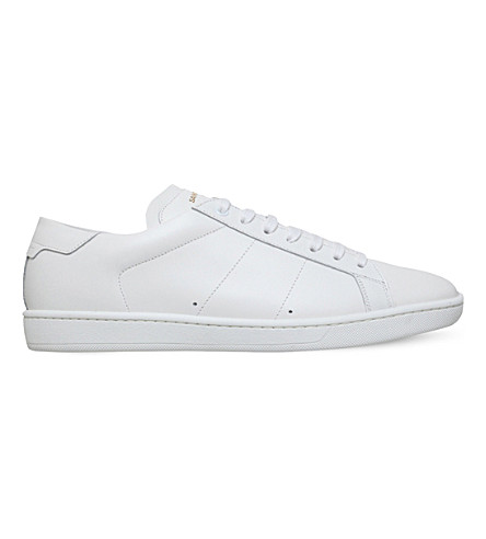 SAINT LAURENT Classic leather trainers (White