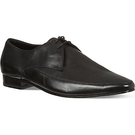 SAINT LAURENT Perforated Apron Derby shoes (Black
