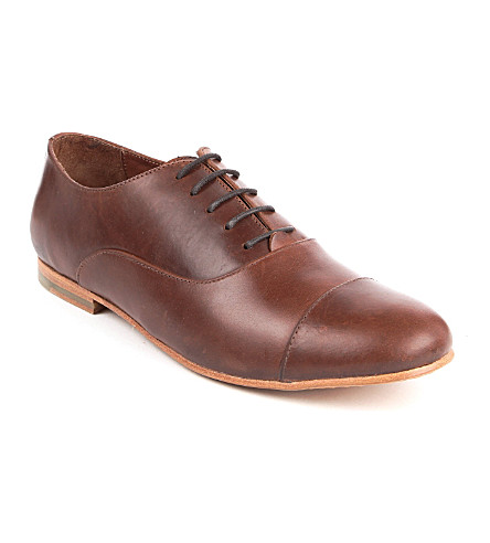 B STORE Mario leather Oxford shoes (Brown