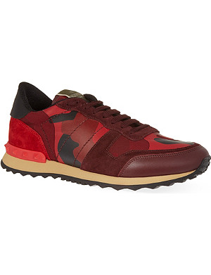 VALENTINO Full leather camo trainers