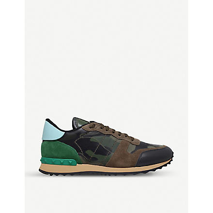 VALENTINO Full leather camo trainers (Khaki