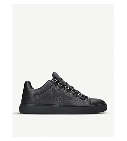 BALENCIAGA Arena leather sneakers (Black