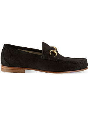 GUCCI Roos suede moccasins