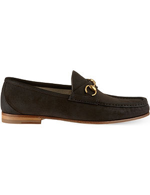 GUCCI Roos suede loafers
