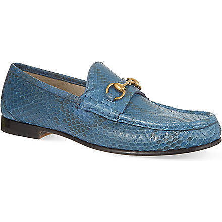 GUCCI Roos Python loafers (Blue