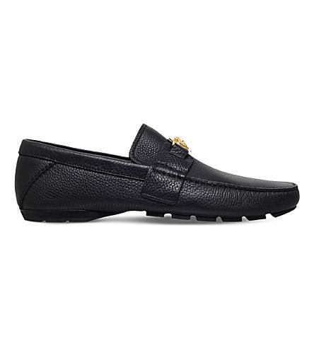 VERSACE Medusa penny loafers (Black