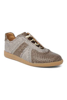 MAISON MARTIN MARGIELA Woven leather trainers