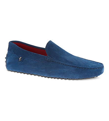 TODS Tod's Ferrari Gommino Driving Shoes in Suede (Blue