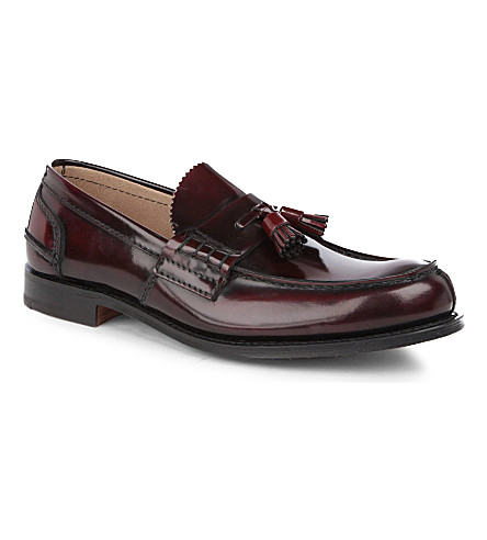 CHURCH Tiverton tassel loafers (Red