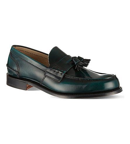 CHURCH Tiverton tassel loafers (Green