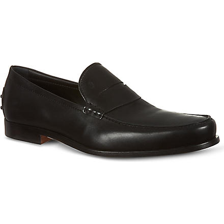 TODS Leather Penny Loafers (Black