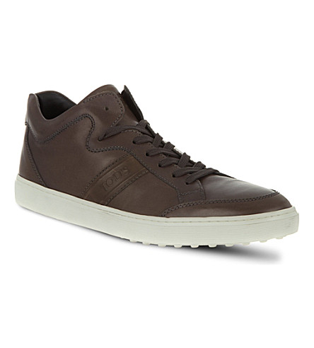 TODS Leather Sneakers (Grey