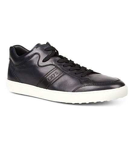 TODS Leather trainers (Navy