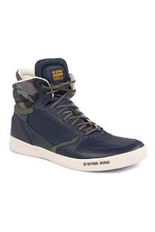G STAR Yard Pyro camo high-top trainers
