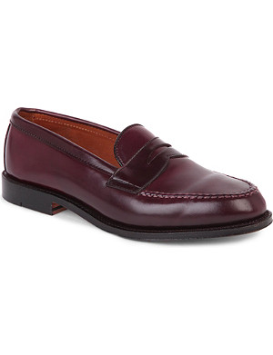 ALDEN Leather penny loafers
