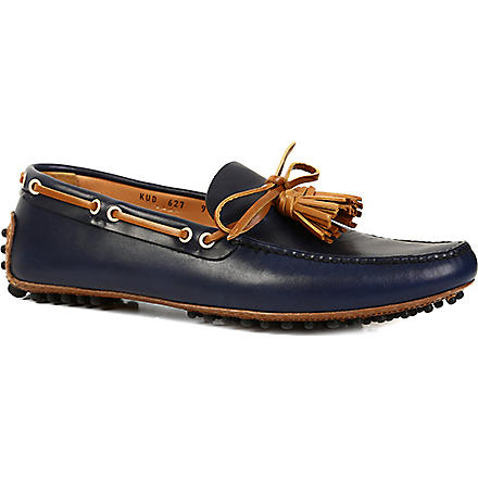 CARSHOE Tasselled leather driving shoes (Navy