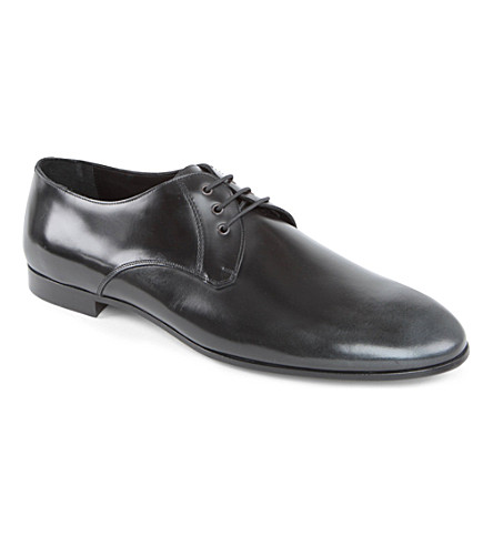 BURBERRY PRORSUM Solter splash-sole Derby shoes (Grey/other
