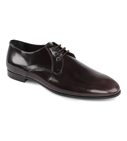 BURBERRY PRORSUM Solter splash-sole Derby shoes (Brown/oth