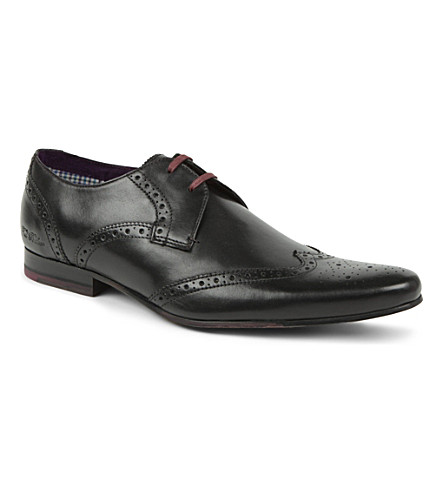 TED BAKER Nendi wing cap brogues (Black