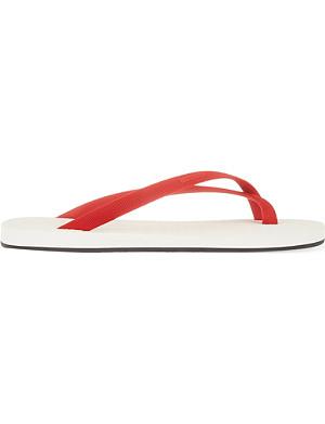 DAN WARD Bi-coloured flip flops