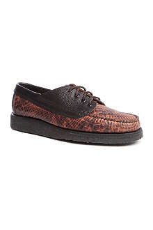 YUKETEN Snakeskin-printed Country Ranger shoes