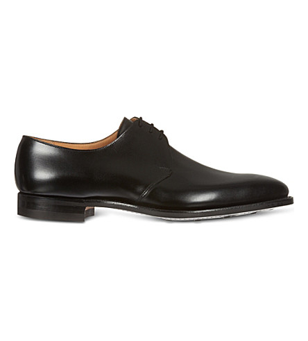 CROCKETT & JONES Hibrey three-eye Derby shoes (Black