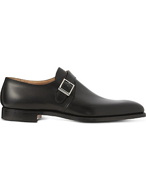 CROCKETT & JONES Single buckle monk shoes