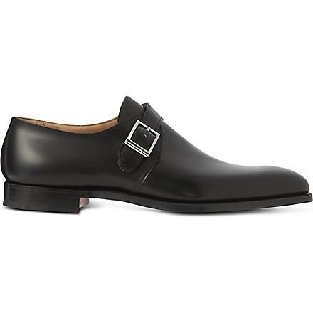 CROCKETT & JONES Single buckle monk shoes (Black