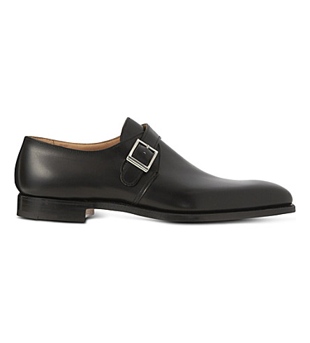 CROCKETT & JONES Single buckle monk shoes (Black