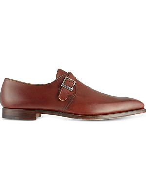 CROCKETT & JONES Leather single-buckle monk shoes