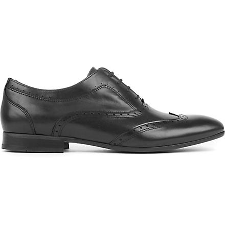 H BY HUDSON Francis brogue shoes (Black