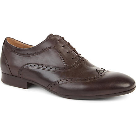 H BY HUDSON Francis brogue shoes (Brown