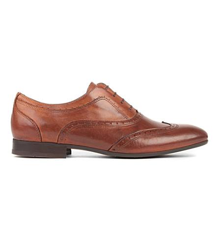 H BY HUDSON Francis brogue shoes (Tan